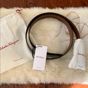 Salvatore Ferragamo Accessories - Salvatore Ferragamo Reversible Pebbled Belt